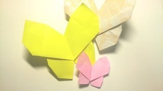 Great Origami-how to make paper butterfly-暮らしを彩る、すてきなおりがみ雑貨-ちょうちょ(蝶)の折り方-