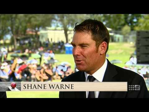Shane Warne's tribute to Hughes