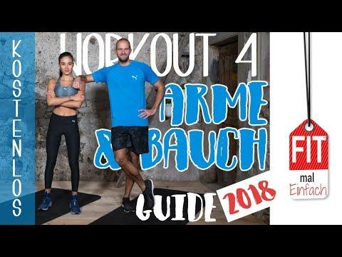 Home Workout für straffe Arme - Fatburner HIIT - Bauch intensiv trainieren