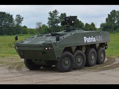 Patria AMV - Contender for Romanian 8X8 amphibous APC