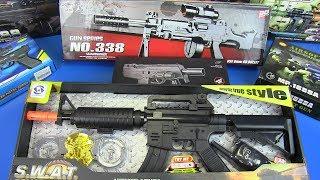 Toys Guns Machine Guns ! Reality Shooting Sound Guns Toys for Kids-Box of Toys