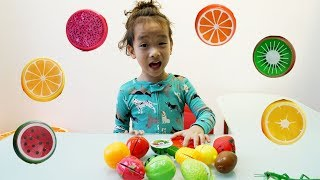 Rua pretend play with Cutting Fruit - Finger Colors Songs - Nursery Rhymes Song for Children
