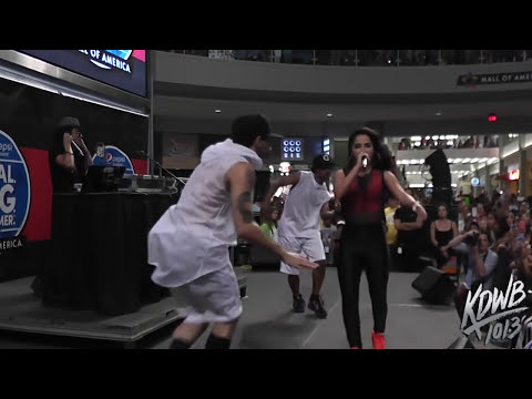 Becky G Performs 'Shower' at Mall of America