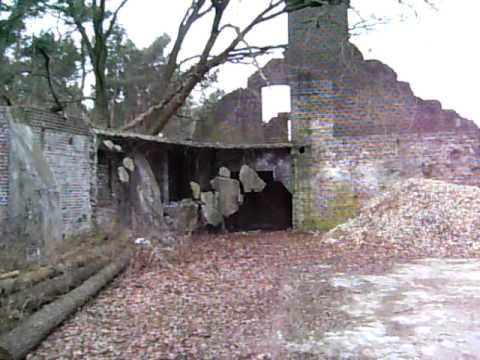 Secret Nazi Airfield Building camoflaged as a Farm  - Venlo Fliegerhorst