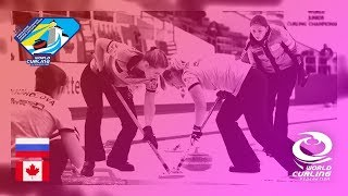 Russia v Canada - Women - Round-robin - World Junior Curling Championships 2019