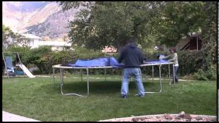 Skywalker Trampolines 12 ft. Round Trampoline Assembly Video
