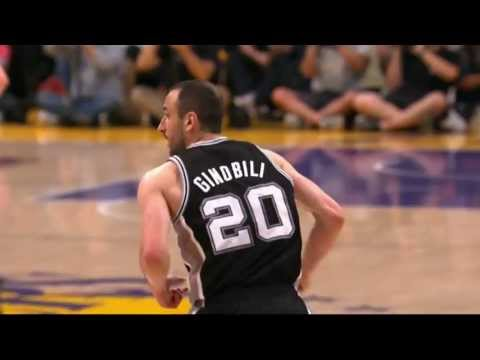 Manu Ginobili Drives in for the Ferocious Slam
