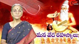 Secrets of Vedas (మన వేద రహస్యాలు) || By Dr Anantha Lakshmi