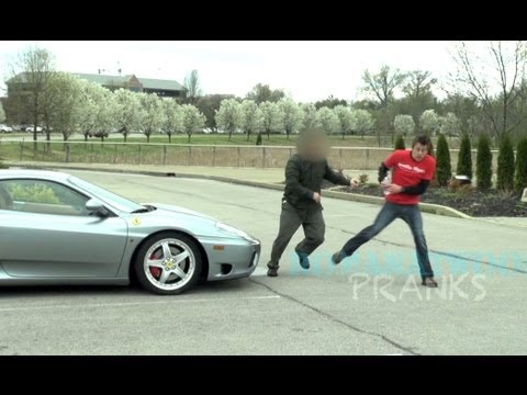 Attacked By Ferrari Owner – Pee Prank