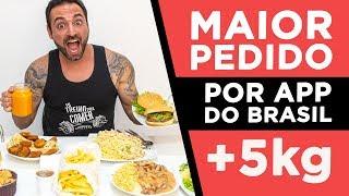 Maior pedido de app delivery do Brasil! (5.2kg)