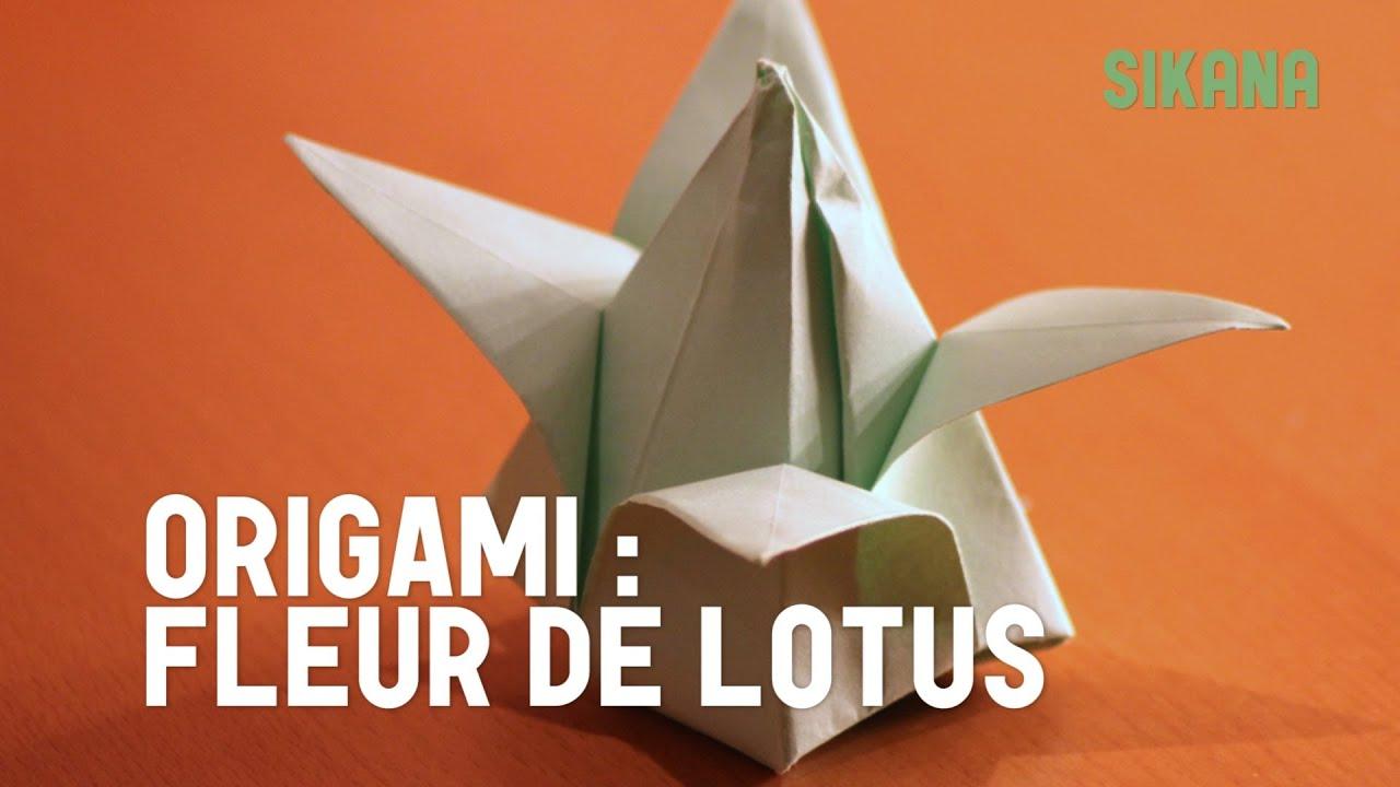 Origami fleur de lotus gonflable en papier hd youtube - Youtube origami fleur ...