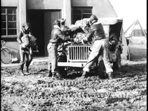 B17 above Emden - Combat Footage WW2