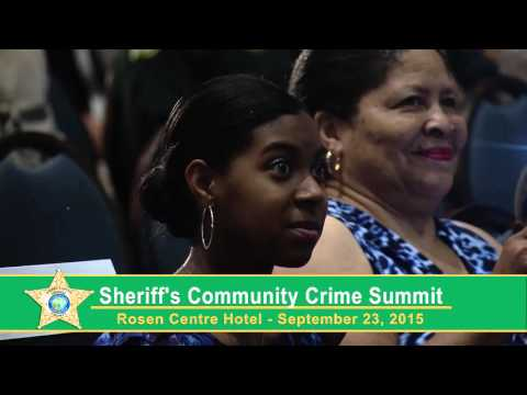 Sheriffs Community Crime Summit Welcome Remarks