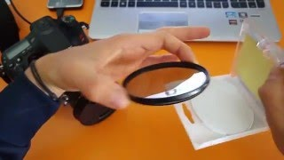 Hoya filter CPL-PL polarizer slim frame 77 mm unboxing and fast review - filtro polarizzatore (HD)