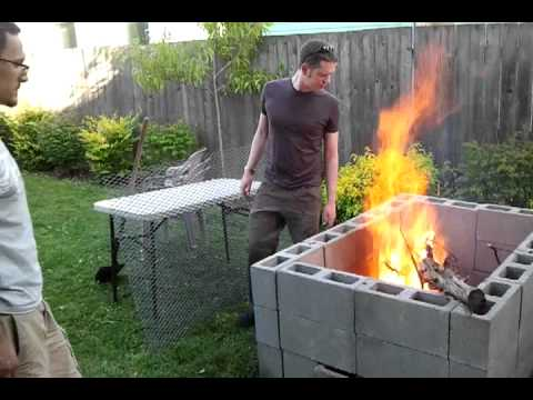 Diy backyard bbq pit the break in burn youtube for Household incinerator design