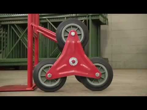 Northern Industrial Hand Truck 6 Wheeled Youtube