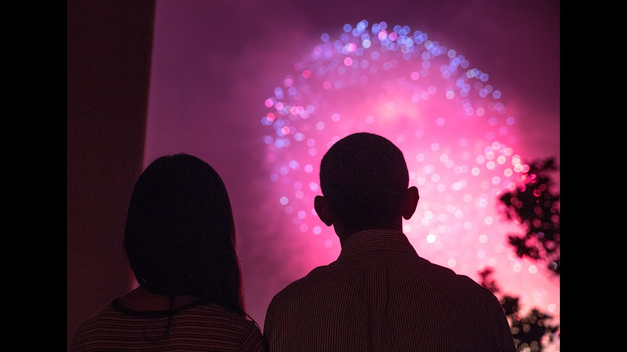 Fireworks on the National Mall from the White House