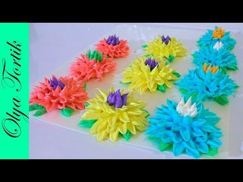 ХРИЗАНТЕМА из безе МЕРЕНГА Как сделать цветы из безе МК /// Olya Tortik Домашний Кондитер