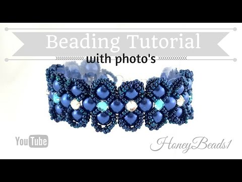 Lady Luck Bracelet Beading Tutorial by HoneyBeads (Photo tutorial)