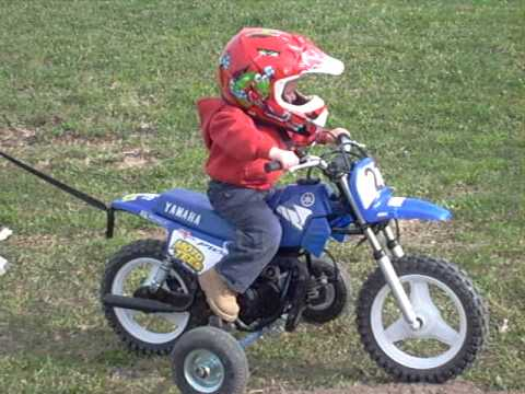 20 MONTH OLD ON YAMAHA PW50 Video