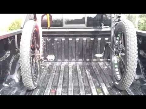 DIY ~ Homemade Fat Bike rack mounted in the bed of a 2012 Ford F-150.