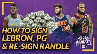 Lakers Podcast: How To Sign LeBron James, Paul George & Re-Sign Julius Randle