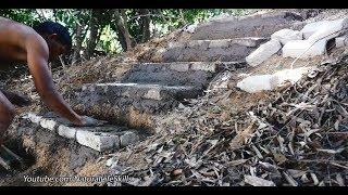 Primitive Technology, Making limestone kiln stair