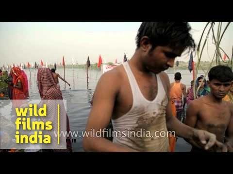 Hindu devotees offer prayer to Sun God during Chhath
