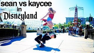 SEAN vs KAYCEE in Disneyland for 10 Minute Photo Challenge *World of Dance*