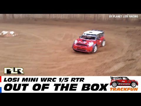 Losi 5ive Mini WRC RTR - Track run (out of the box)