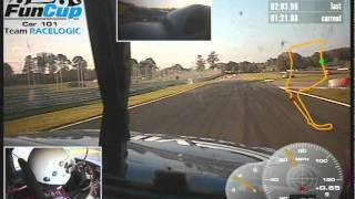 Huge spin in Oulton Park FunCup race 2011 on board video