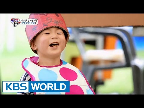 Triplets' House - Making Huge Paper Boat (Ep.93 | 2015.09.06)
