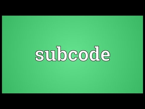 Header of Subcode