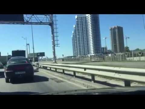 Объезд пробки возле Южного моста