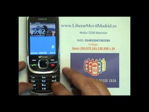 Liberar Nokia 7230 Movistar por Código IMEI - www.LiberarMovilMadrid.es
