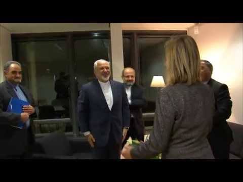 Federica MOGHERINI receives Iranian Foreign Minister Mohammad Javad ZARIF