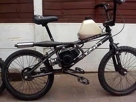 BMX - ENGINE POWERED - 50cc POCKET BIKE ENGINE - YouTube