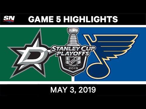 NHL Highlights   Stars Vs. Blues, Game 5 – May 3, 2019