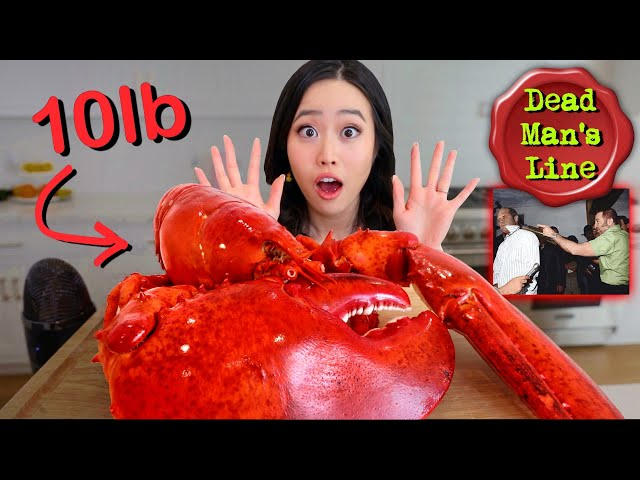 GIANT 10 POUND LOBSTER MUKBANG! Seafood Boil  Butter Sauce!