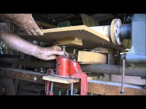 Convert your lathe into a thickness sander