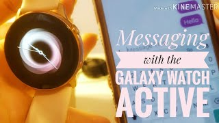 Texting (and calling) with the Galaxy Watch Active