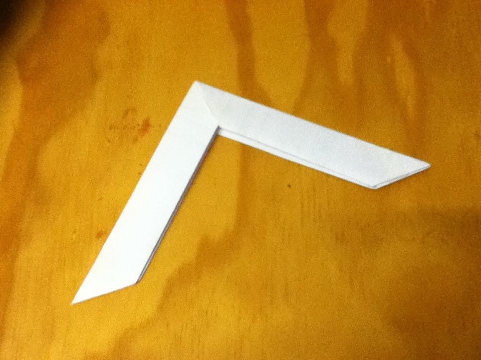 Как сделать оригами бумеранг из бумаги видео
