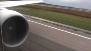 Boeing 777. GE90-115B Engine Start and Full Power Take Off. Cathay Pacific