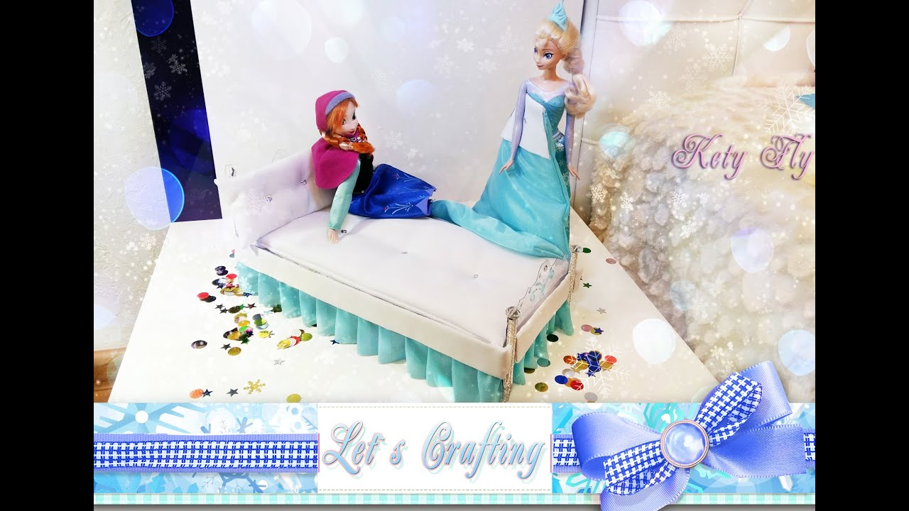 Как сделать кровать для куклы без всего