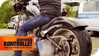 113 Dezibel bei Motorradkontrolle! Dieses Motorrad ist viel zu laut! | Achtung Kontrolle |kabel eins