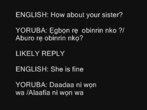 Yoruba Language training series 002