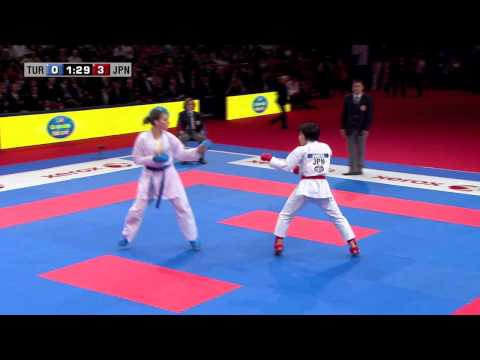 Final Female Kumite -68kg. Seyda Burucu vs Kayo Someya. WKF World Karate Championships 2012