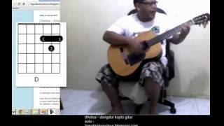 belajar gitar otodidak - dholna bolna jholna dil to pagal hai shahrukhan madhuri dixit song india