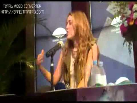 Miley Cyrus Sexy Long Hair Interview