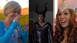 Elsa, Maleficent and Fairy Godmother JAIL Bloopers!